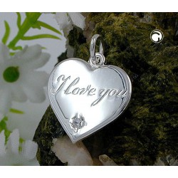 Pendentif Argent 925 Coeur I LOVE YOU