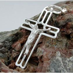 Pendentif croix avec le Christ en argent 925