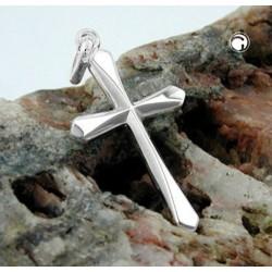 Pendentif croix en argent brillant