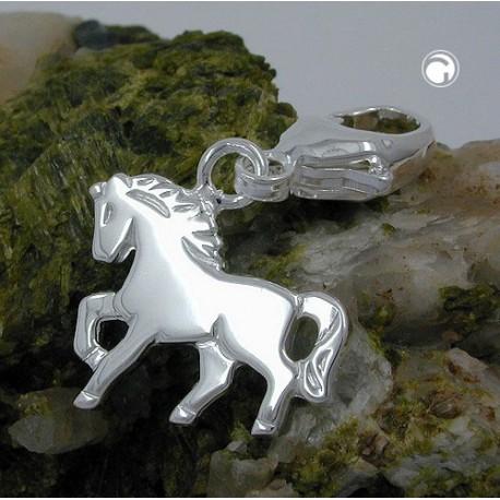 Breloque, charm cheval en argent