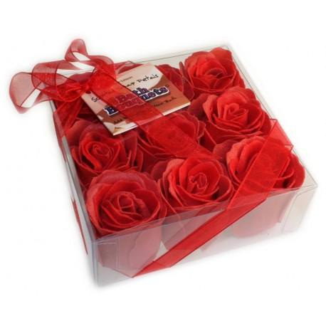 Savon rose de bain rouge