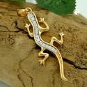 Pendentif salamandre plaqué or