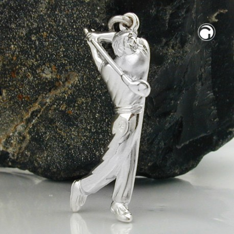 Pendentif joueur de golf en argent