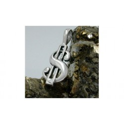Pendentif dollar en argent