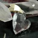 Pendentif coeur en zirconia et or