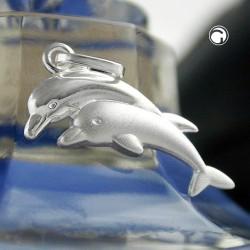 Pendentif dauphin en argent